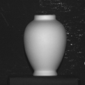 The light source direction for Vase was estimated by the