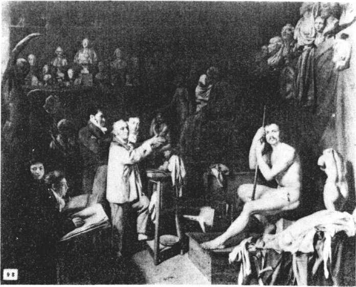 In Rembrandt's studio, only male students could draw from a nude model.