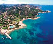 Porto Cervo with the Marina, the Yacht Club, the Pevero Golf, boutiques, restaurants and clubs; combined with