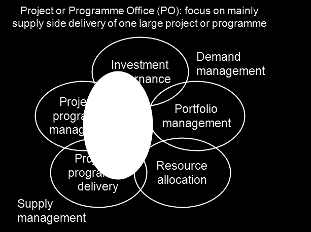 enterprise project offices, in relation to the key activities above.