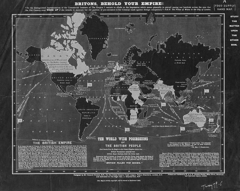 16 Truth & Reconciliation Commission By the end of the nineteenth century, the British Empire spanned the globe. This map was intended to convince Britons of the benefits of empire.