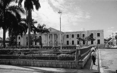 The Governor s Palace (only its facade is left) was the most palatial building in the Indies, it was said; on the third side, a little bit later, a building of more