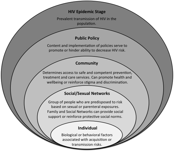 METHODS: QUANTITATIVE STUDY Theoretical Framework To explore the associations between behavioral, social and structural factors with HIV in KP, the study utilized the Modified Social Ecological Model