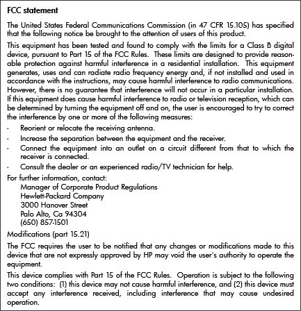 FCC statement Notice to users in Korea VCCI (Class B) compliance statement for