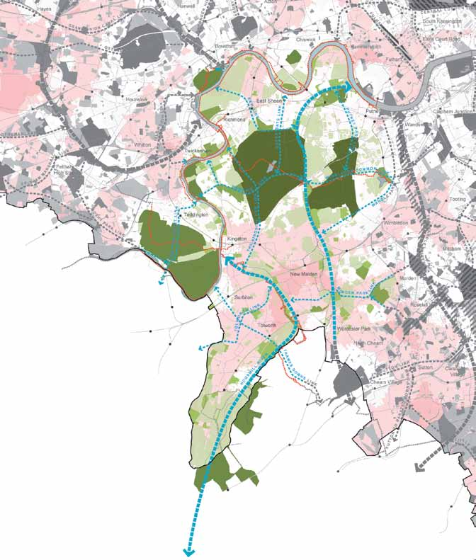 109 Figure 22: Arcadian Thames Green Grid Strategic Corridors Strategic Links Metropolitan Park Opportunities Regional Park Opportunities Regional Parks Metropolitan Parks District Parks Local Parks