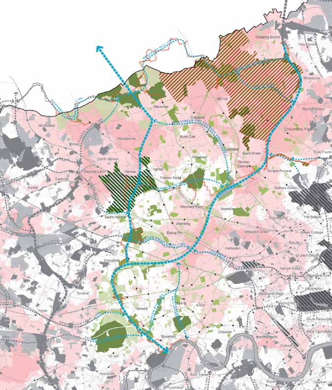 s pg TH E all lon don g r e e n g r i d Figure 24: Brent Valley and Barnet Plateau Green Grid Strategic Corridors Strategic Links Metropolitan Park Opportunities Regional Park Opportunities Regional