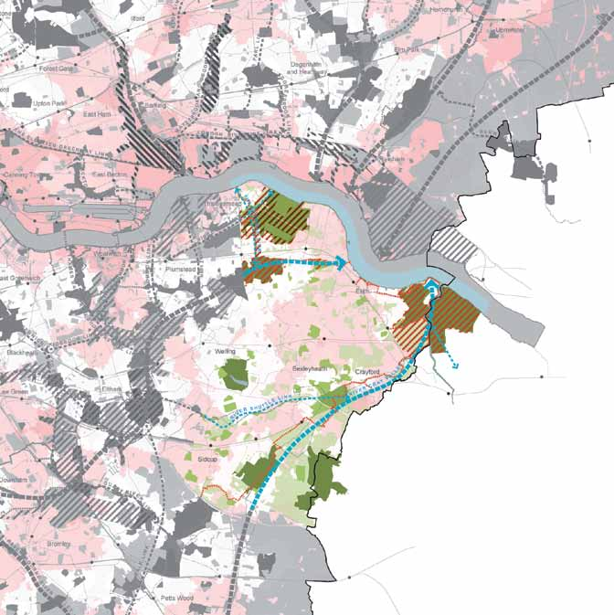 93 Figure 18: River Cray and Southern Marshes Green Grid Strategic Corridors Strategic Links Metropolitan Park Opportunities Regional Park Opportunities Regional Parks Metropolitan Parks District