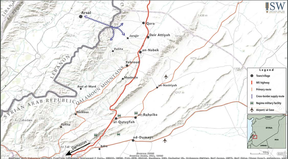 MIDDLE EAST SECURITY REPORT 26 AN ARMY IN ALL CORNERS CHRISTOPHER KOZAK APRIL 2015 QALAMOUN OVERVIEW MAP Hezbollah fighters played a key role in the offensive, providing strained and inadequately