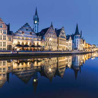 Rhine cruises Ghent The Rhine River flows through some of the most picturesque scenery of Europe and some of the best wine growing regions in Germany.