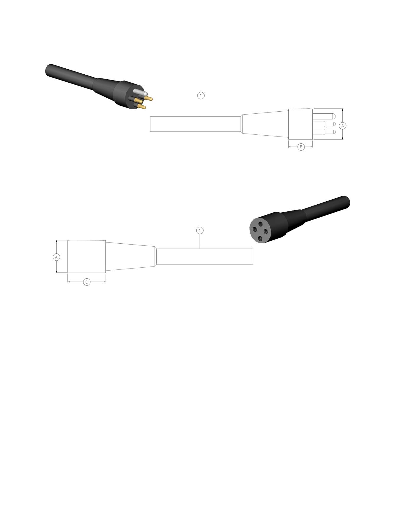 ^iijtbqround SERIES DIMENSION DETAILS AW-MP with Ground (w/g) ^iijtbq Round with Ground In-Line Connector Mates with AW-FS and AW-S-BC Dummy Connector: AW-FSD AW-FS with Ground (w/g) ^iijtbq Round
