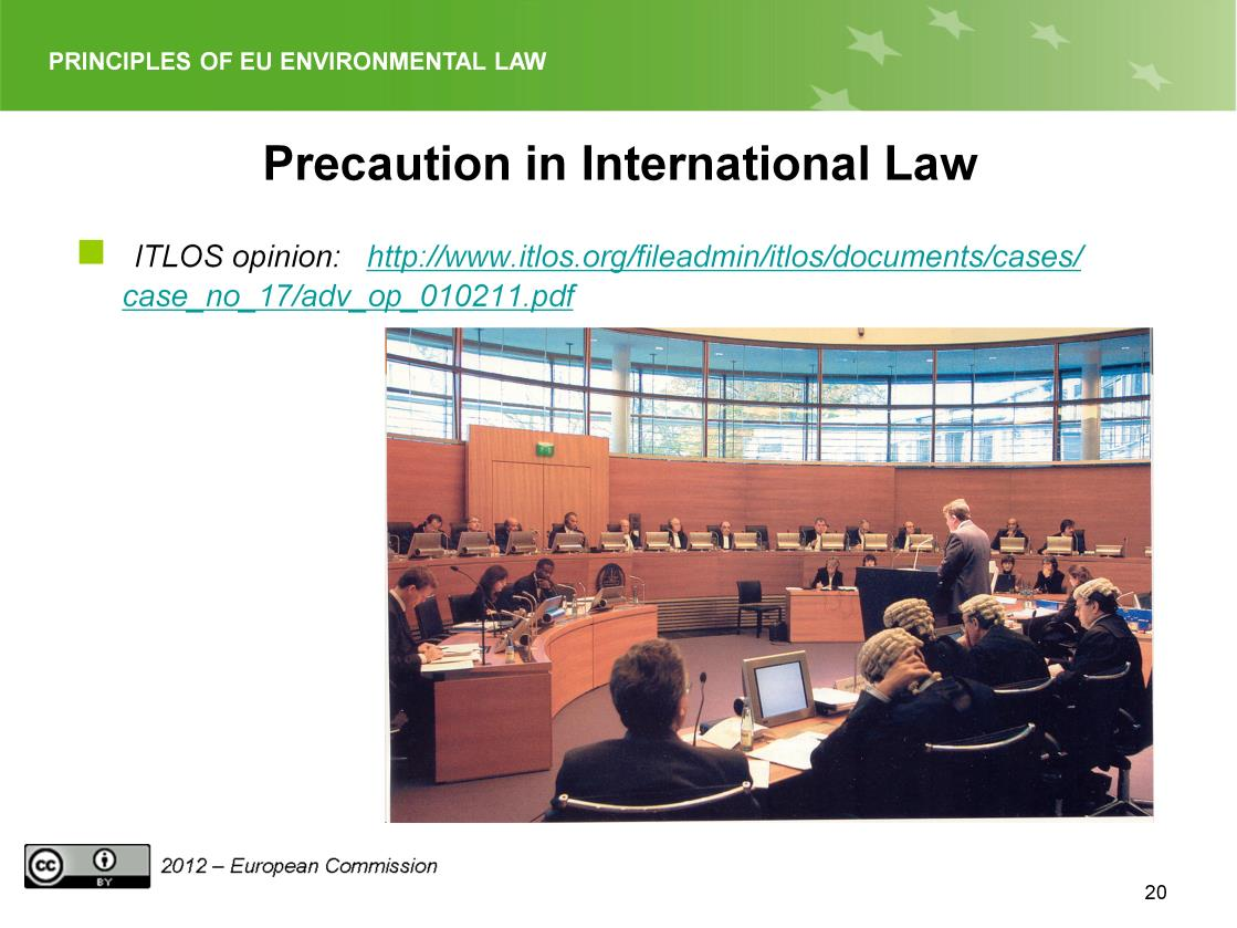 Slide 20 A major step in this direction is the advisory opinion of the International Tribunal for the Law of the Sea (ITLOS) of 1 February 2011 RESPONSIBILITIES AND OBLIGATIONS OF STATES SPONSORING