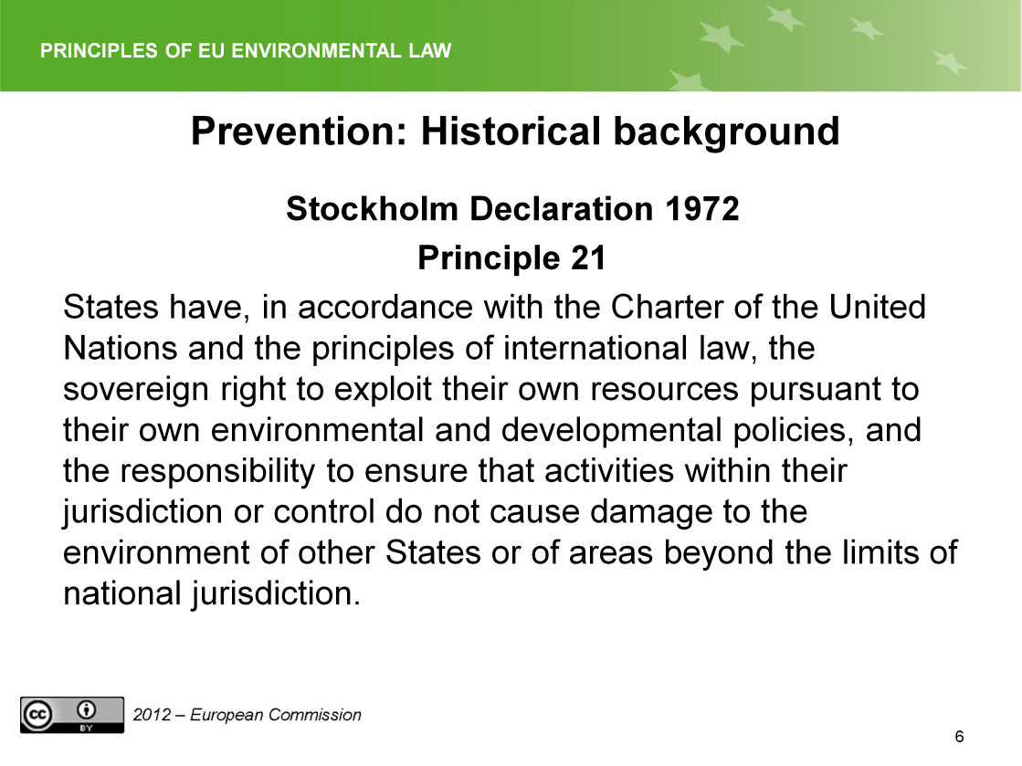 Slide 6 The principle laid down by the Arbitral Tribunal in the Trial