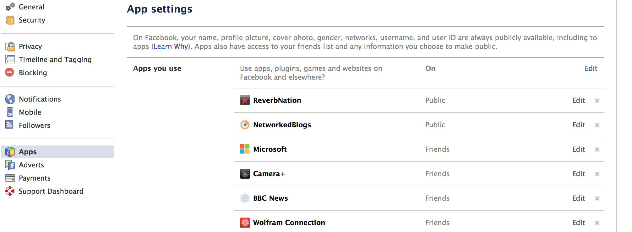 Apps In this menu you should review the individual permissions that you have allowed the Apps that you have installed.