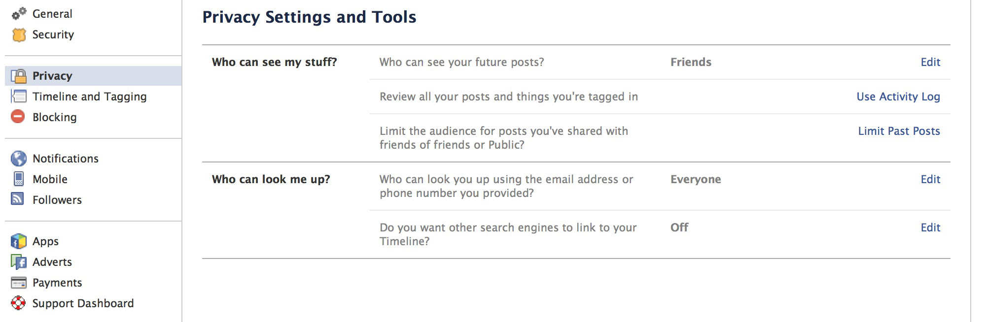 Finally, under Do you want other search engines to link to your timeline?