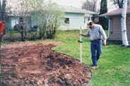 The surface area of your rain garden should be between 20% and 30% of the roof area that will drain into the rain garden.