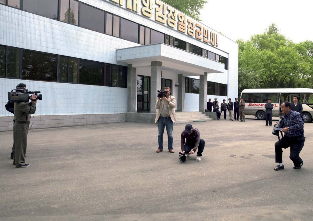 Only in North Korea: I was at a factory shooting with my TV crew.