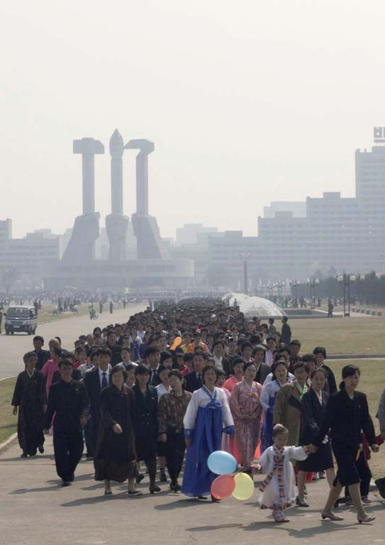 On the day of the Kimjongilia festival, thousands of