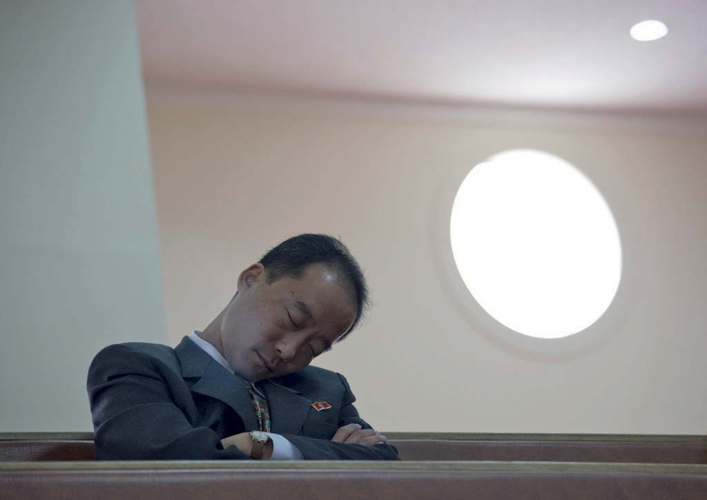 In a Christian church, this official was dozing off on a