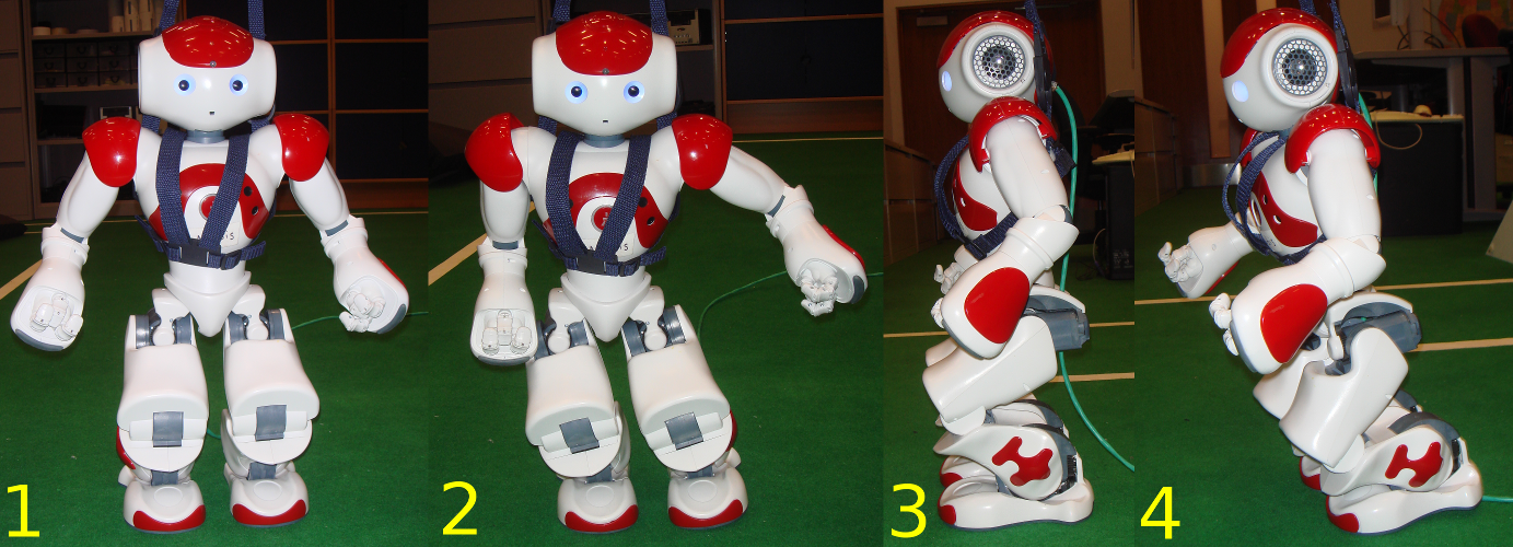 52 Figure 4.13. Kinematic configurations for the legs of the Nao robot. where l thigh and l tibia are the length of the thigh and the tibia, respectively.