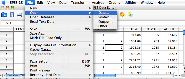 "First, go to the Data Appendix and download the file IQ_Brain_Size.xls (""Relationship between IQ and Brain Size"")."