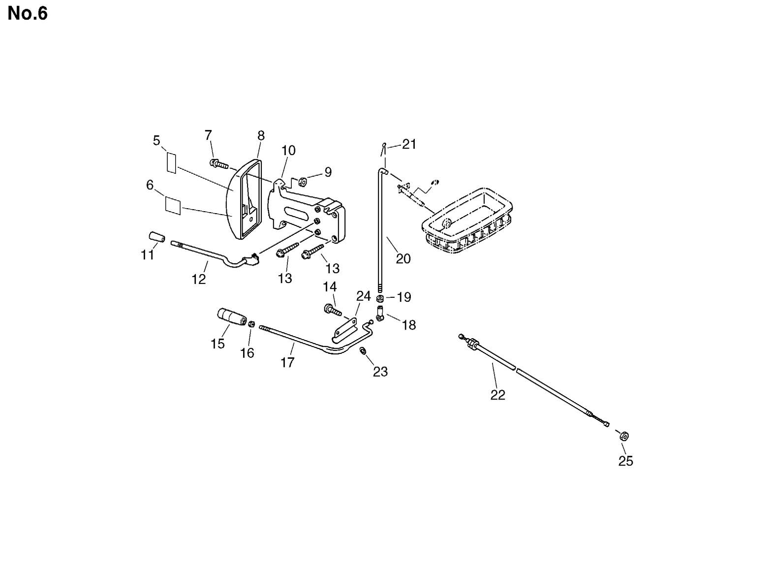 Group:Duster/Mist Blowers Model:DM-4610(SrNr 004334 and before) Section:Control Lever Group:Duster/Mist Blowers Model:DM-4610(SrNr 004334 and before) Section:Chemical Tank 5 210023-00210 1 PIPE,