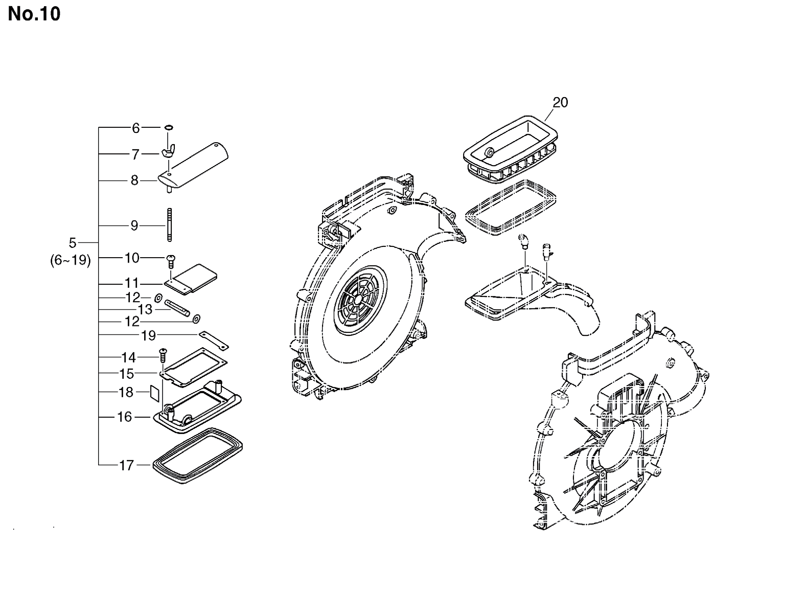 Group:Duster/Mist Blowers Model:DM-4610(SrNr 004334 and before) Section:Dust Attachment(DMAD-4610)-1 Group:Duster/Mist Blowers Model:DM-4610(SrNr 004334 and before) Section:Dust
