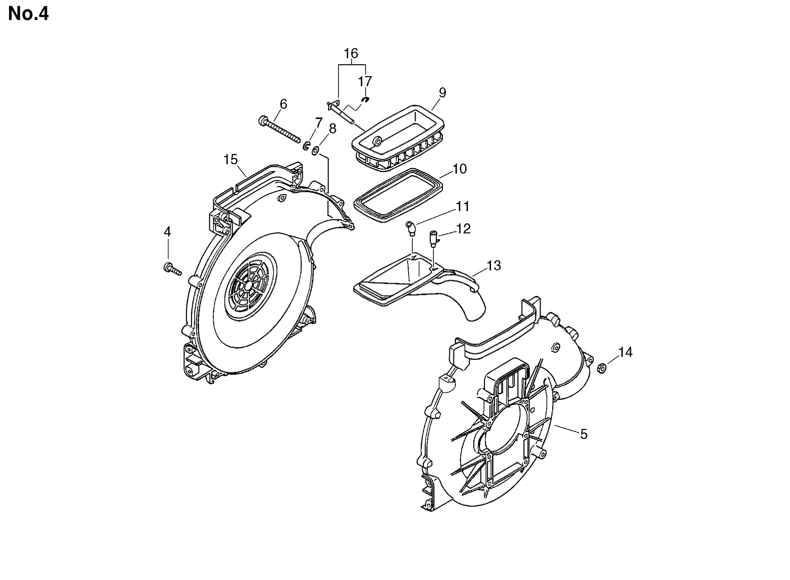 Group:Duster/Mist Blowers Model:DM-4610(SrNr 004334 and before) Section:Fan Case, Lower Tank Group:Duster/Mist Blowers Model:DM-4610(SrNr 004334 and before) Section:Harness 1 300010-07310 1 FRAME,