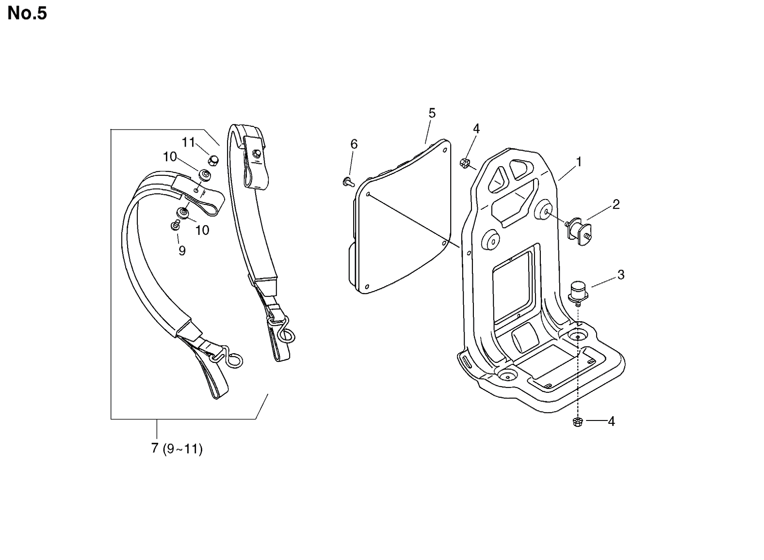 Group:Duster/Mist Blowers Model:DM-4610(SrNr 004334 and before) Section:Harness Group:Duster/Mist Blowers Model:DM-4610(SrNr 004334 and before) Section:Control Lever 5 890348-05060 1 LABEL, SPEED 6