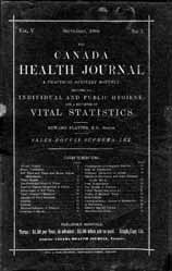 Dr. William Canniff Dominion Sanitary Journal, 6 (January 15, 1884) matter speedily before his colleagues 14 and in 1882, the Public Health Act compelled local governments to set up health boards and