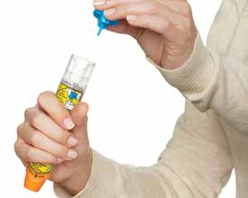 Built-in needle protection When the EpiPen Auto-injector is removed, the orange needle cover automatically extends to cover the injection needle, ensuring the needle is never exposed.