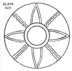 since Maldek ceased to exist around 1500 B. C. This sun disk is similar to the Ishtal-Maxin in the Solex-Mal. (See illustration on page 72).
