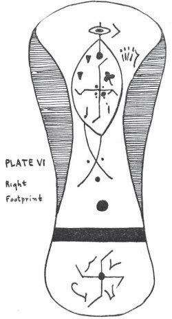 Plate VI. Right Footprint p. 117 Heavenly Architects and Geometricians, the Four Great Strong Ones... built the earth and formed its life.