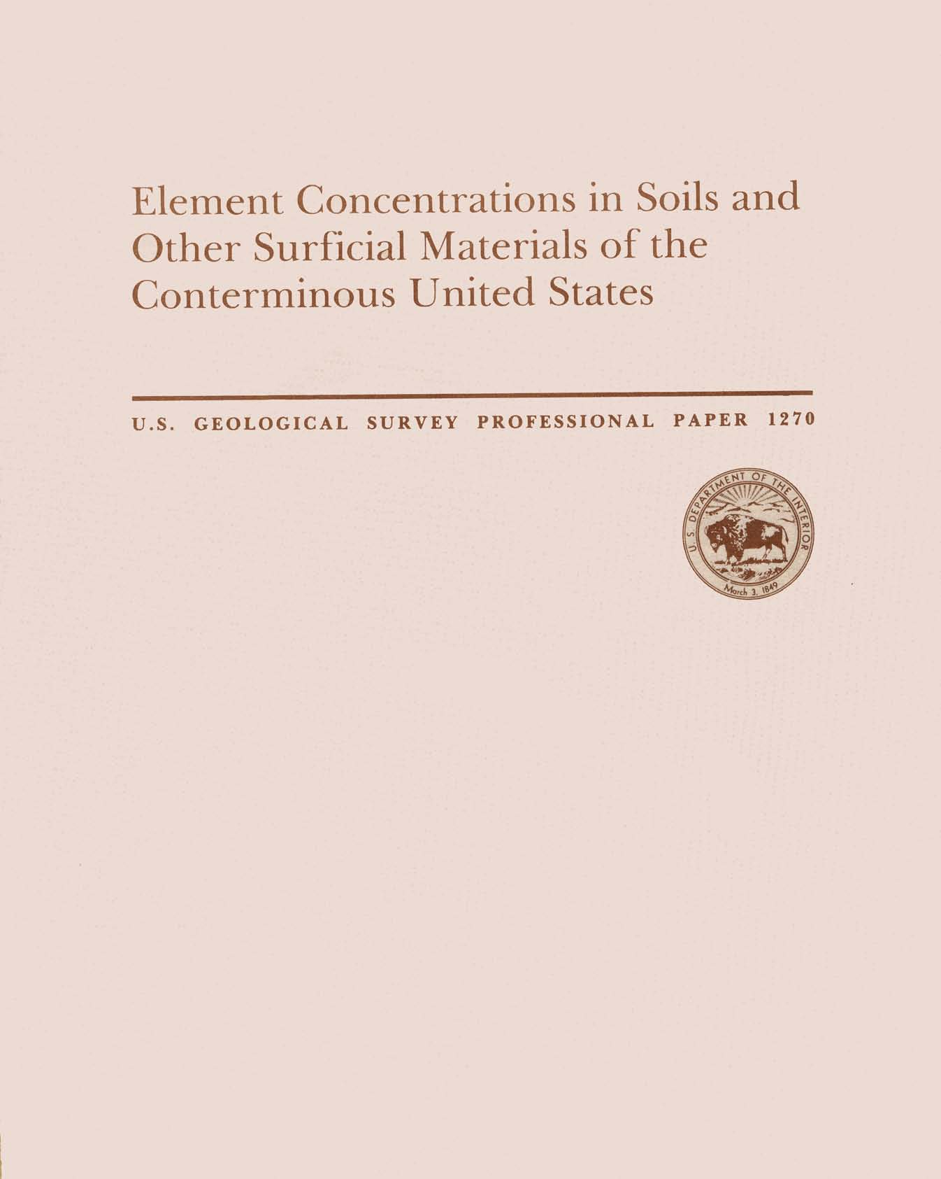 Element Concentrations in Soils and Other
