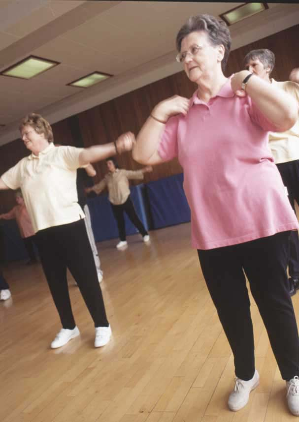 Exercise class for older adults.