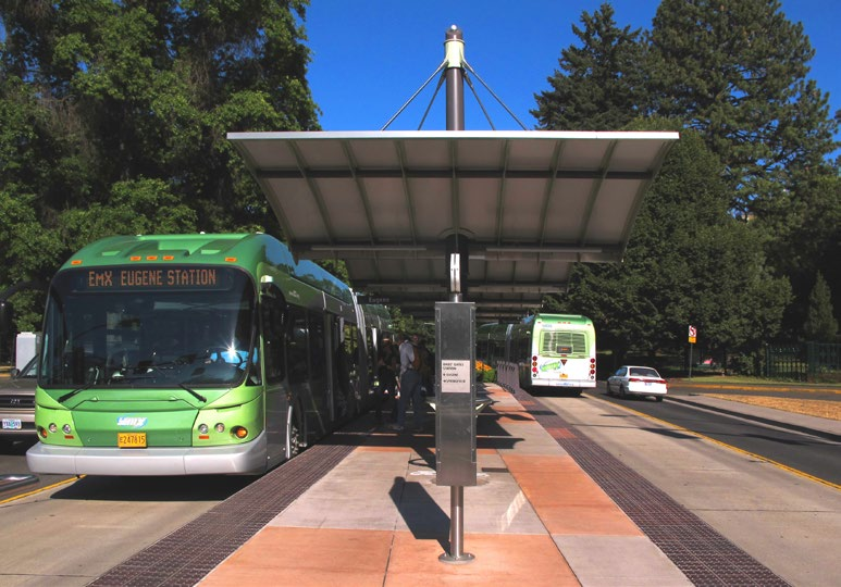Eugene s EmX Green Line s moderate development impact have largely been due to its proximity to the main campus of the University of Oregon.