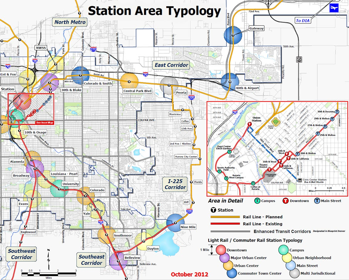 Denver created a station area typology to determine where to focus