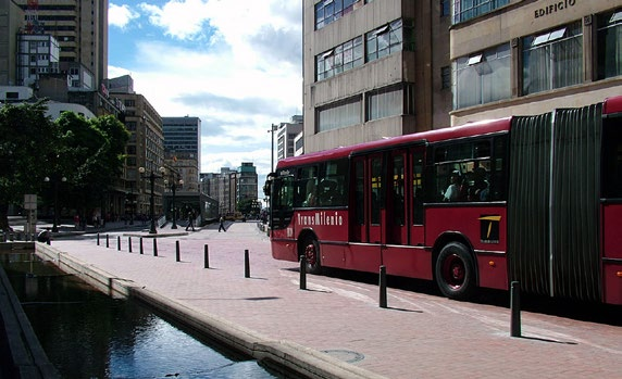 Bogotá s downtown was previously crime-ridden and dangerous, but the BRT, which runs directly through the historic downtown, has helped to bring activity to the area.