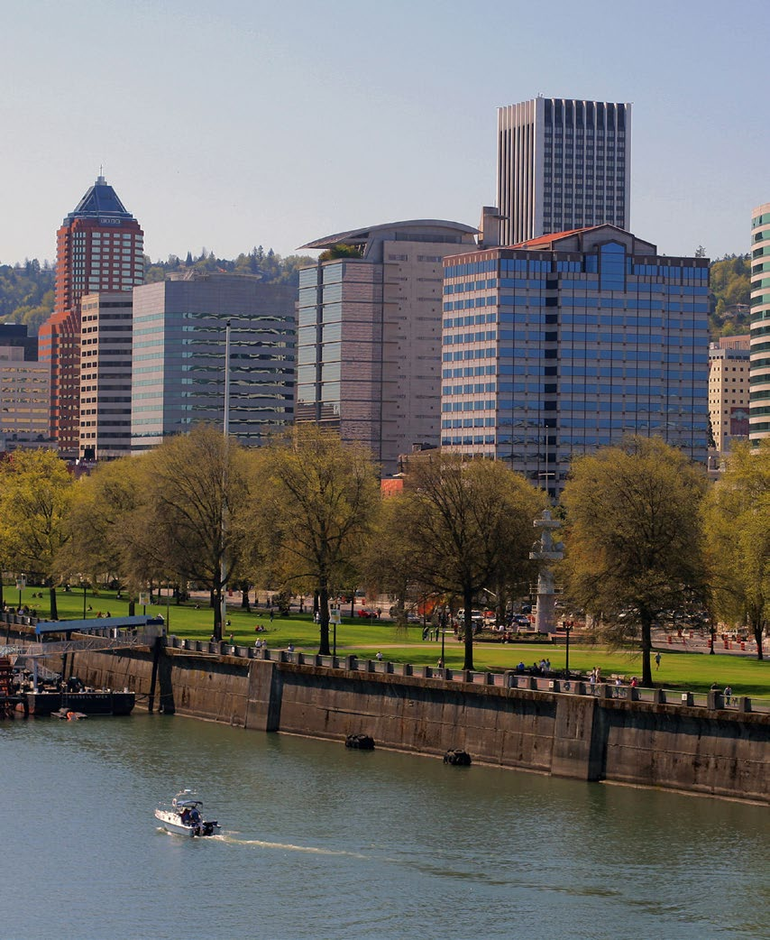 After the demolition of the Harbor Freeway, Portland s waterfront was