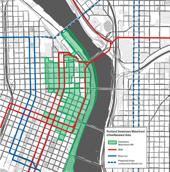 Portland Development Commission provides funds for planning studies and grants in designated areas, like