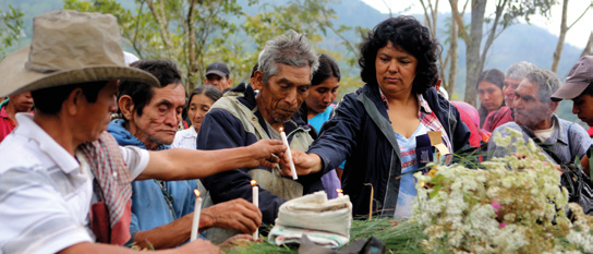 20 Below: Berta Cáceres has faced fabricated criminal charges and death threats because of her work defending indigenous Lenca territory from hydropower dams in Honduras.