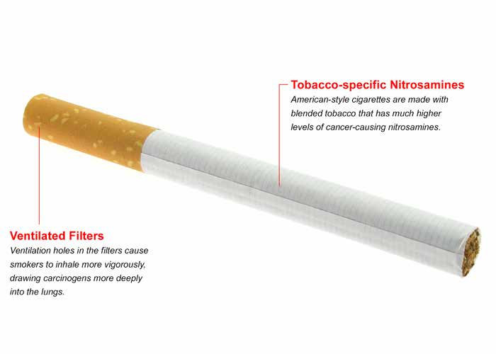 Design Changes in Recent Decades Have Made Cigarettes More Lethal In fact, today s cigarette smokers both men and women have a much higher risk for lung cancer and chronic obstructive pulmonary