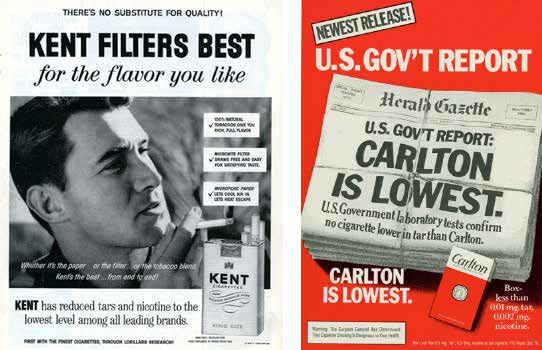 1959 magazine ad. (Source: Stanford Research into the Impact of Tobacco Advertising.) 1981 magazine ad. (Source: Stanford Research into the Impact of Tobacco Advertising.) These marketing campaigns were spectacularly successful.