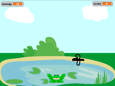 4: Hungry Frog Game 4: Hungry Frog Game This lesson will introduce Breaking down a problem (problem decomposition) Introduction You are going to create a game where a hungry frog jumps up to catch