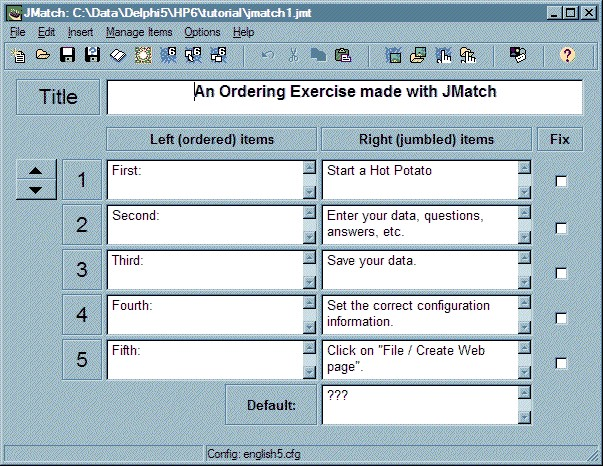 JMatch output JMatch includes many different output options; it has standard V6 output, drag-and-drop output, and also a flashcard option that you can use to help your students memorize matching