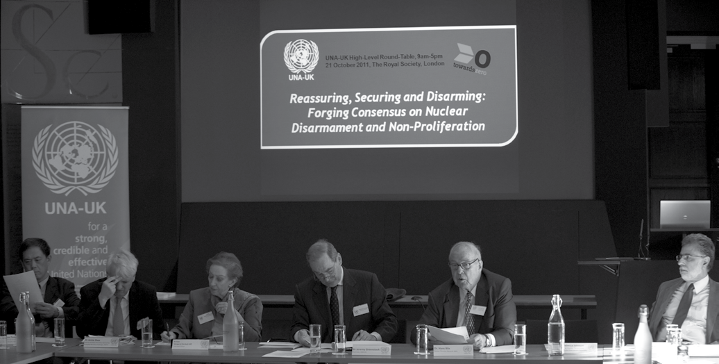 On 21 October 2011, UNA-UK held a high-level Towards Zero roundtable, part of which was devoted to generating short and long-term recommendations on a Middle East zone free of nuclear weapons and