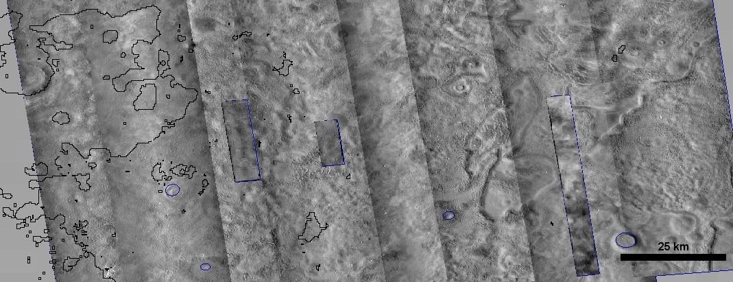 Figure 3.2-2. One possible landing ellipse near 45N, 210E showing polygonal terrain usually indicative of near surface ice. (Image credit NASA/JPL-Caltech/Arizona State University) 3.2.3 Landing Site Elevation The Mars One 2018 precursor lander is planned to target a potential future site for crewed missions.