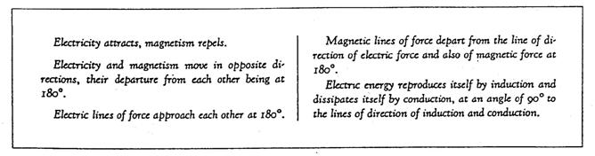 The universal Mind substance of matter, or light, could not be anything but a thinking substance because of its possession of electricity and magnetism as attributes of energy.