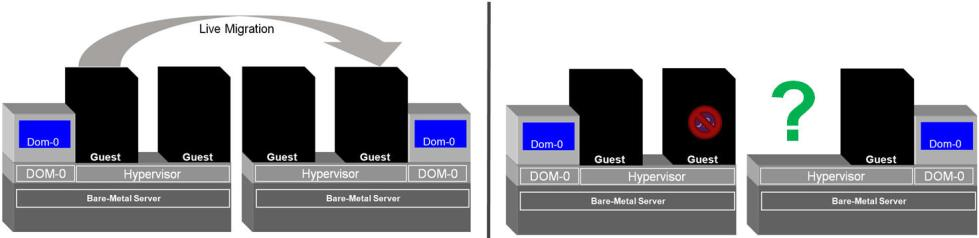 Figure 11:VM-based HA features do not have any insight as to what the guest VM is running A granularity that most virtualization solutions do not provide is one that goes beyond the black-box of a