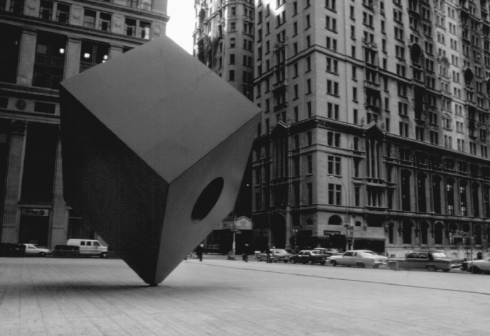 62 Isamu Noguchi, Red Cube, Marine Midland Bank Plaza (now HSBC) at