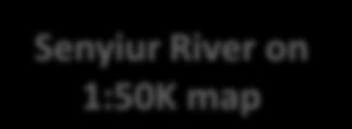 of 1:50K coordinates and river line